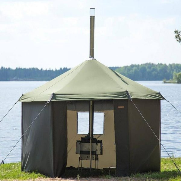 Mobile Sauna Tent Hire Set Up By Lake
