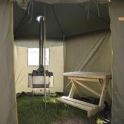 Inside View Of Mobile Sauna Tent Hire When Set Up
